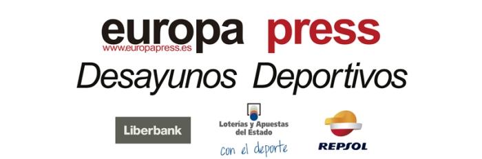 Desayunos Deportivos Europa Press. Patrocinadores: Liberbank, Loterías y Apuestas del Estado, Repsol
