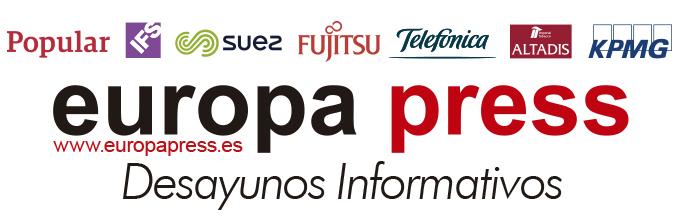 Desayunos Informativos Europa Press. Patrocinadores: Banco Popular, Fujitsu, Suez, Telefónica, Altadis, KPMG, IFS