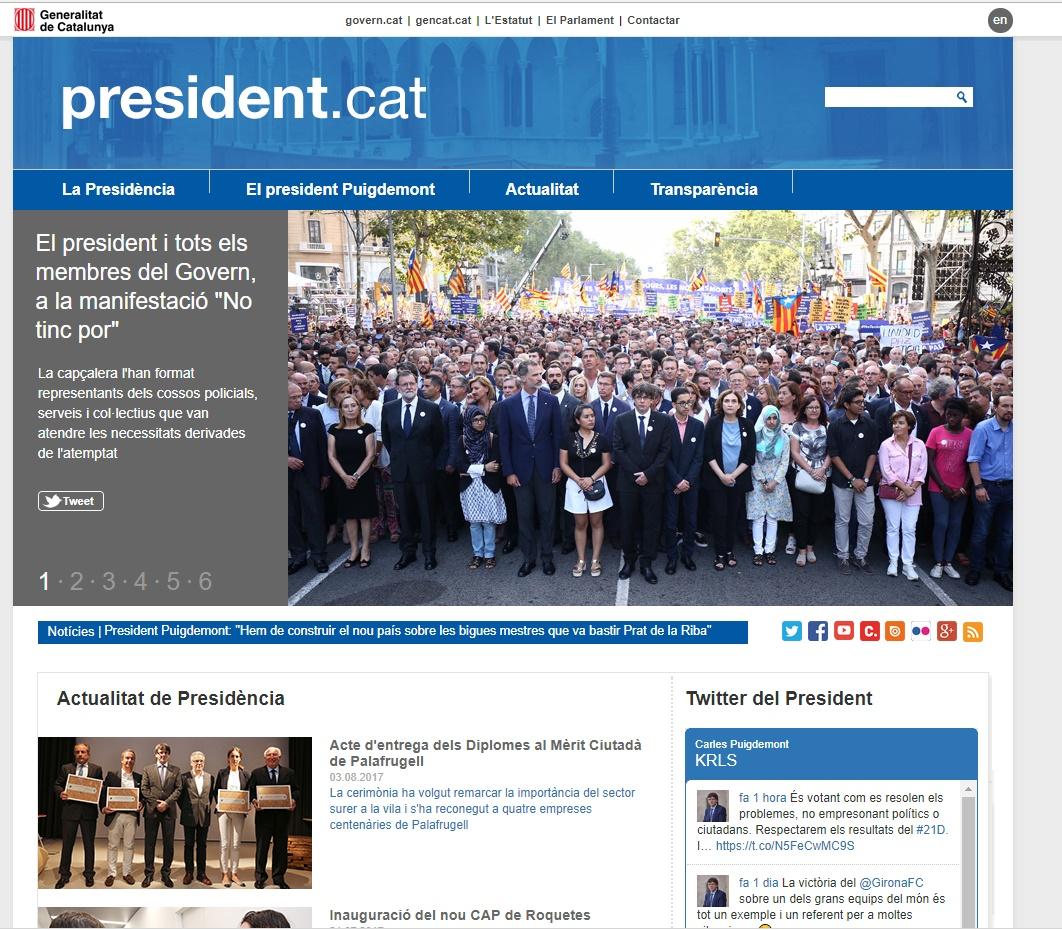 Declaración Puigdemont, Junqueras y Forcadell | Interrogan a ...