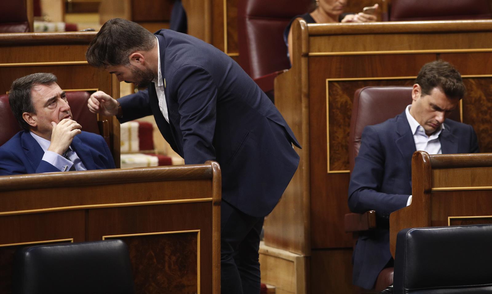 El PNV no cree que la situación entre el PSOE y Unidas Podemos esté mejor que ayer -. Firma: CJM/ROSA .-
